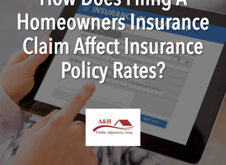 How Does Filing a Homeowners Insurance Claim Affect Insurance Policy Rates?