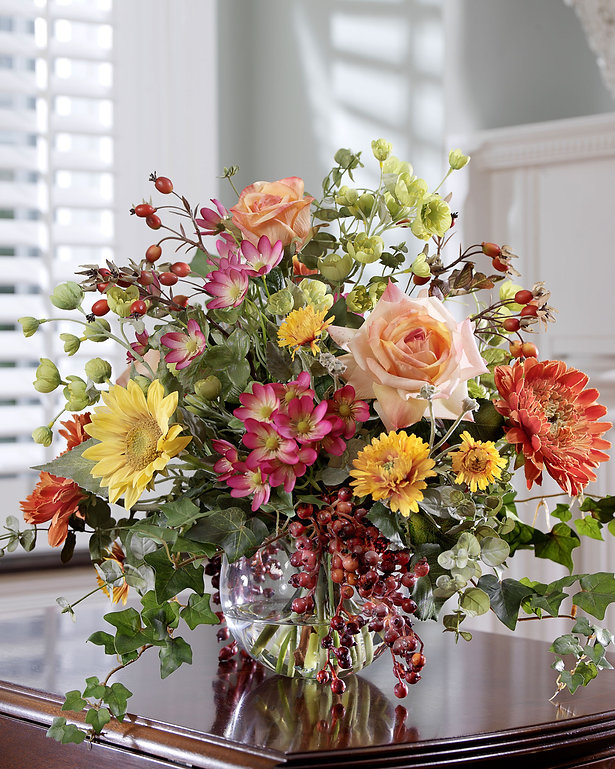 Elegant flowers bouquet on website design.