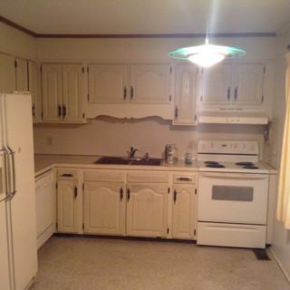 Before renovations kitchen