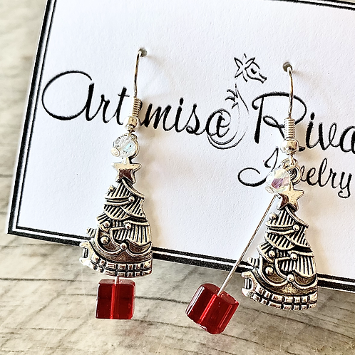 Forest Holiday Charm Earrings