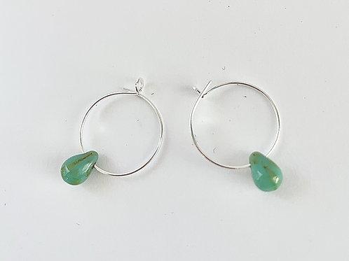 Small Hoop Color Drop Earrings