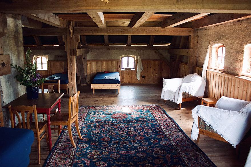 Speicher Wohnbereich Kleine Schäferei Biesenbrow
