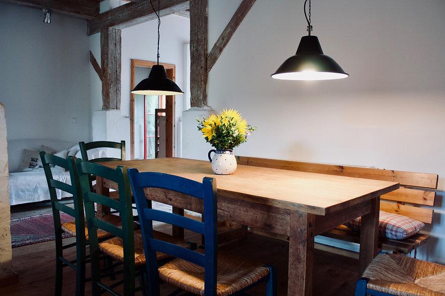 Wohnzimmer Ferienwohnung Uckermark