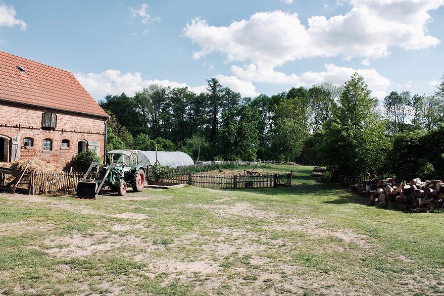 Bauernhof Ausblick Traktor Landschaft