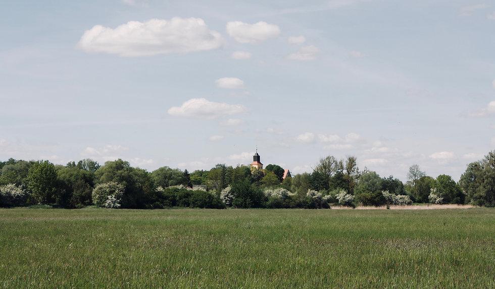 Kirche Ausblick Natur Biesenbrow