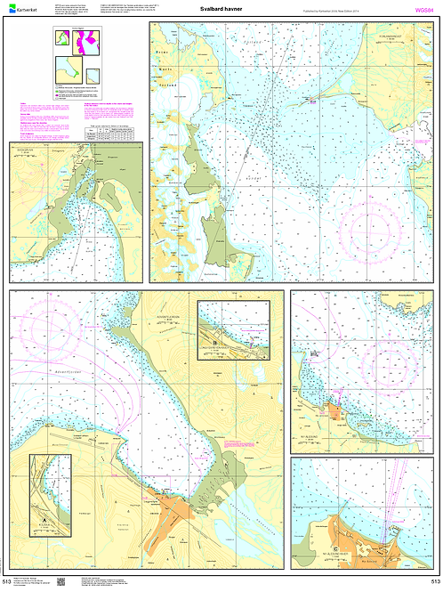 513 Svalbard havner: Sveagruva, Forlandsrevet, Adventfjorden, Ny Ålesund