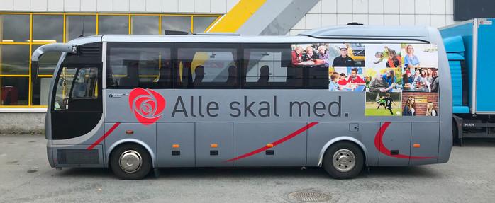 Bussdekor Arbeiderpartiet