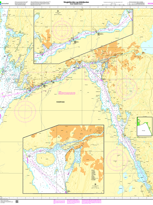 470 Singlefjorden, Iddefjorden med Halden havn