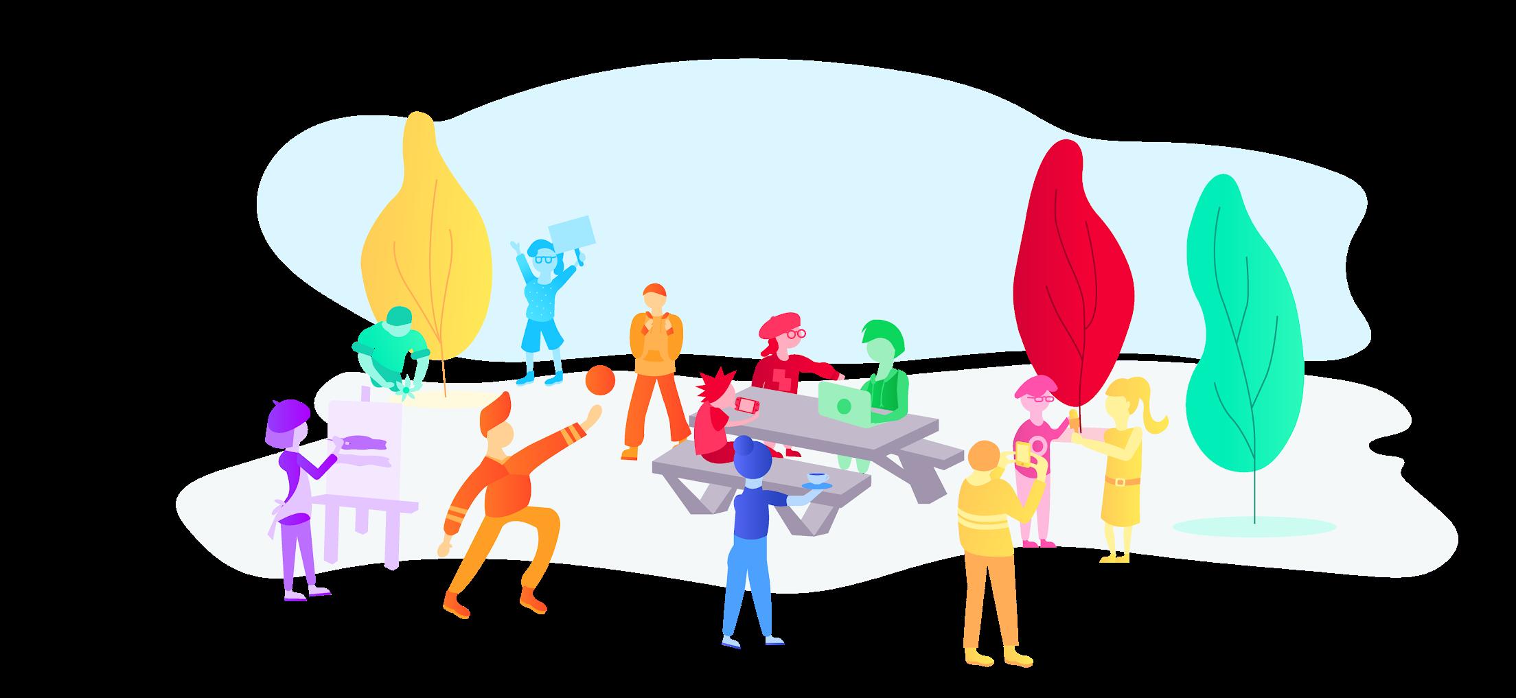 Hackathon Illustration Landing Page (Col