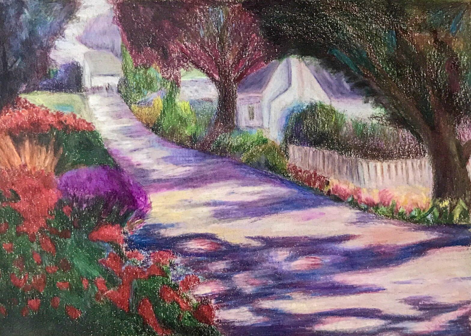 Study_ Roadside (Colored Pencil)