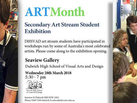 ARTMonth 2018 Exhibition!