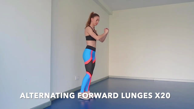 ALTERNATING FORWARD LUNGES