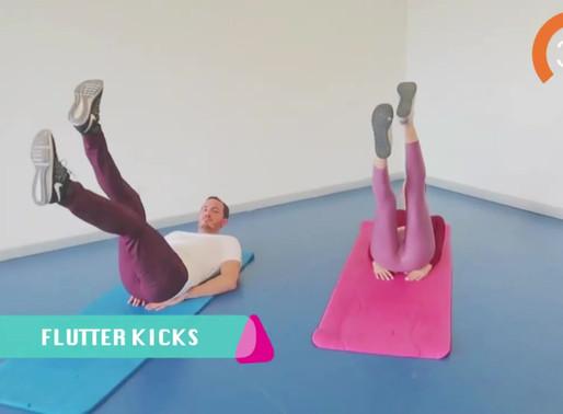 FLUTTER KICKS EGZERSİZİ   FLUTTER KICKS EXERCISE