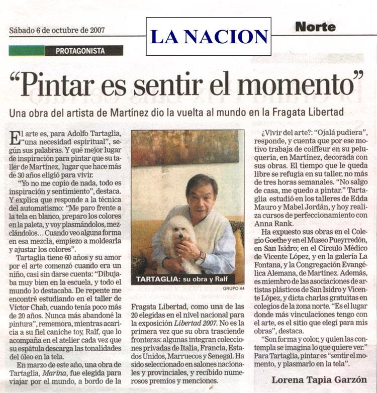 Nota publicada en el Suplemento Zona Norte del diario La Nación el 6 de octubre de 2007