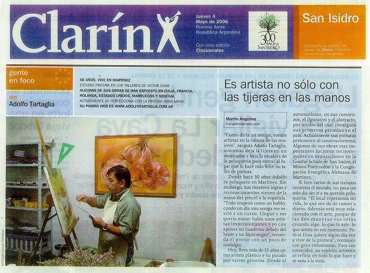 Nota publicada en el Suplemento Zona Norte del diario Clarín el 4 de mayo de 2006
