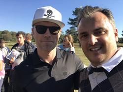 Matt with John Barnes