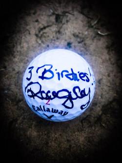 3 Birdies Golf Ball