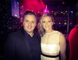 Matt with Gabby Logan