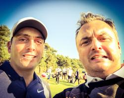 Matt with Francesco Molinari