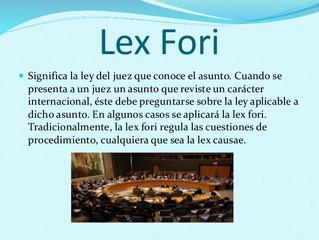 La lex fori nello spazio giuridico comunitario