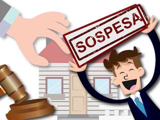 L'inconsistenza del patrimonio immobiliare della parte vittoriosa in appello è motivo di sospens