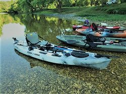 Kayaks at River Launch II
