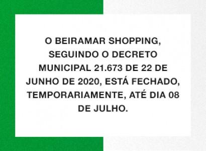 Novo decreto altera o funcionamento do Beiramar Shopping