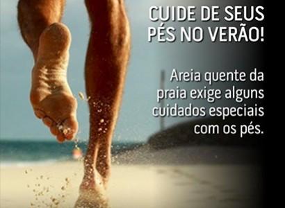 O verão e os cuidados com a saúde dos pés