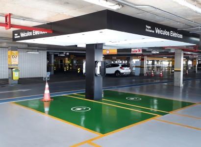 Beiramar Shopping amplia postos de carregadores elétricos