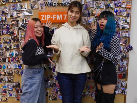 ZIP-FM「bloomy」EGG SHELL(sakura ,kanako) 生ゲスト出演!!