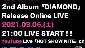 配信ワンマン EGG SHELL 2nd Album「DIAMOND」Release Online LIVE 開催決定!!