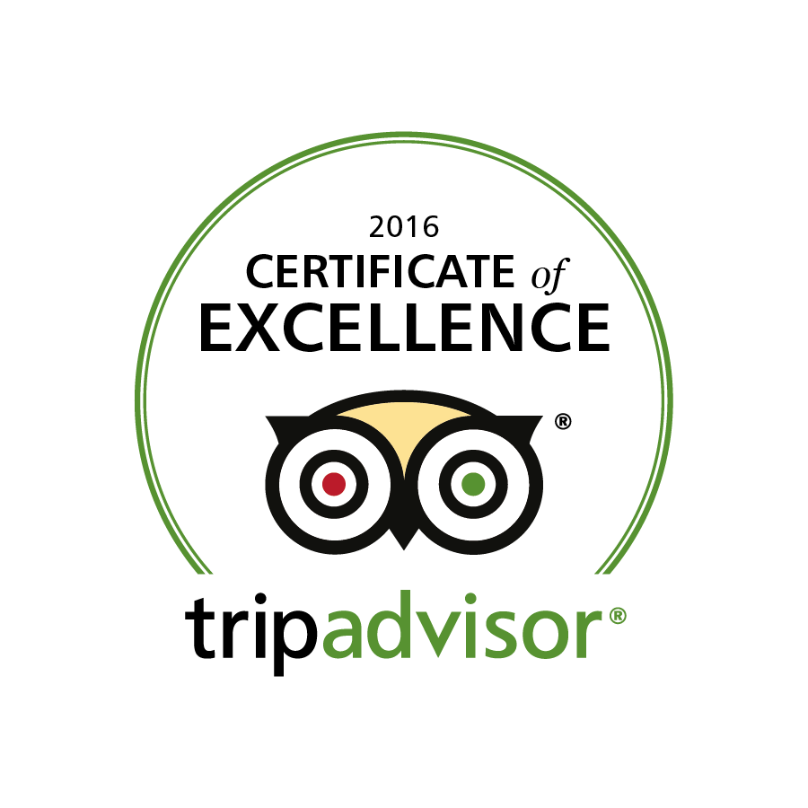 We are delighted to have been awarded the Trip Advisor Certificate of Excellence for 2016 - a big thank you to all our guests who have been so kind in all their reviews!