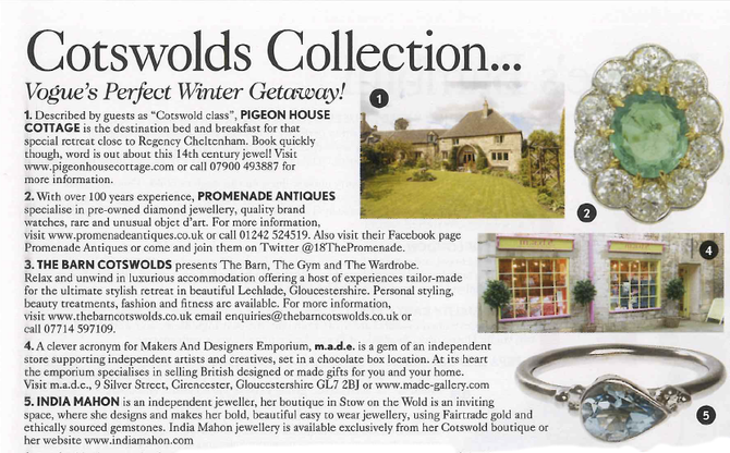 Pigeon House Cottage is featured in Vogue!