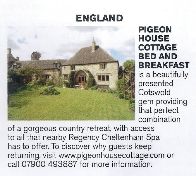 Named as England's Getaway in May's Brides Magazine