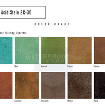 Acid Stain SC-30 Applied Over existing c