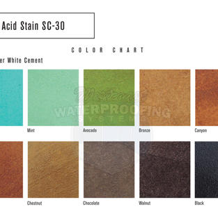 Acid Stain SC-30 Applied Over White Ceme