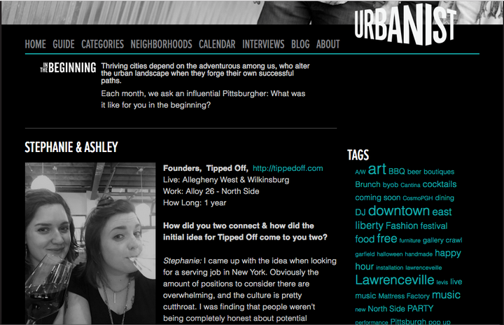 Tipped Off Featured in Urbanist Pittsburgh!