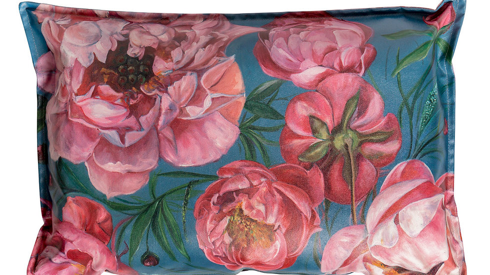 Peony design on outdoor fabric (cover)
