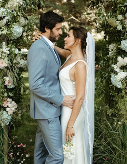 Danielle Bux in her bespoke wedding veil