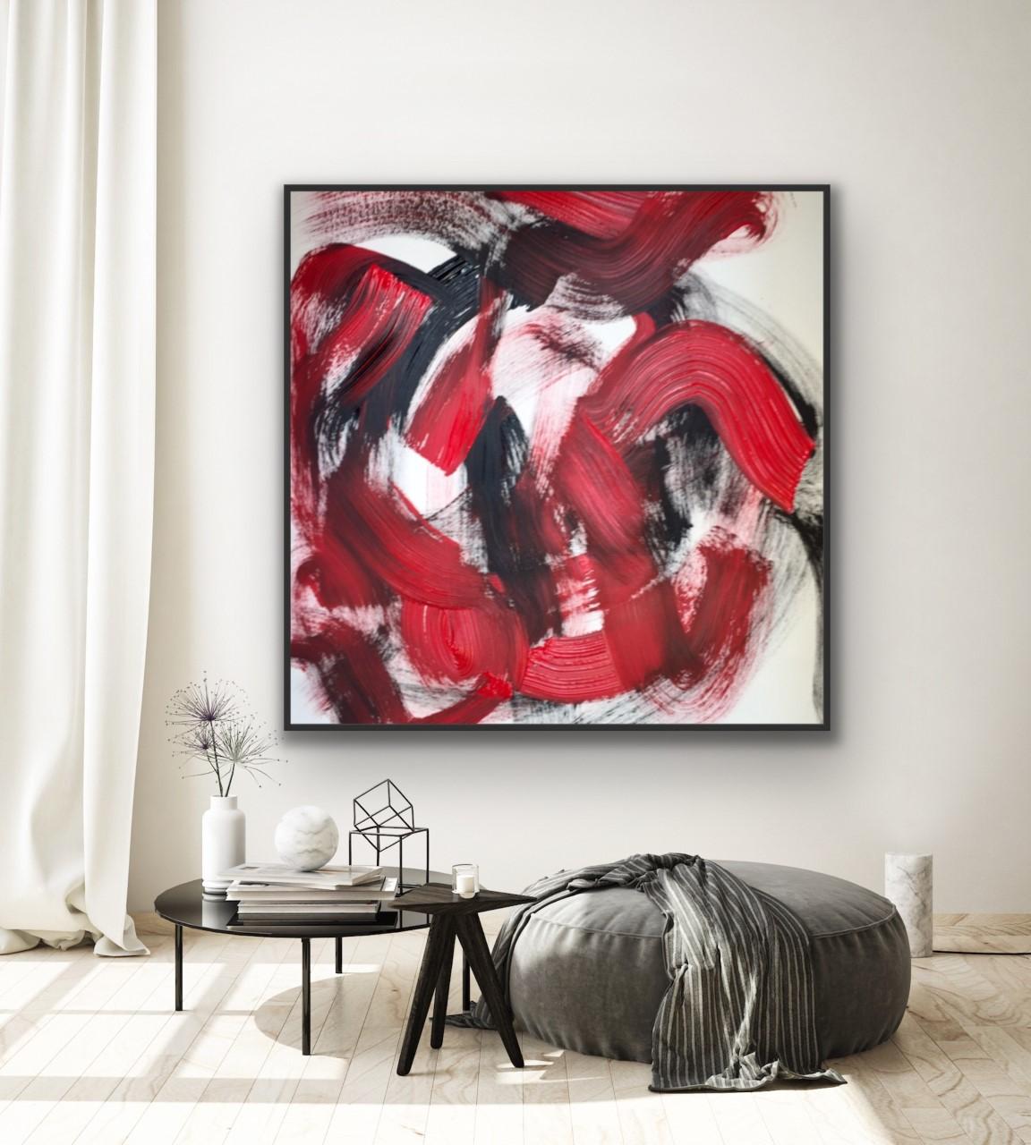black & red waves