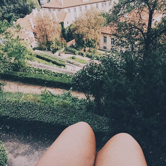 Not everyday you get to sit on the ledge of a castle