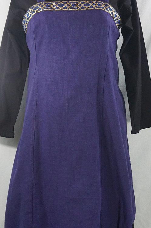 Apron Dress with Trim