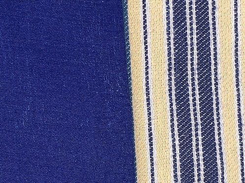 Blue and Yellow Stripe reverses to Navy Blue