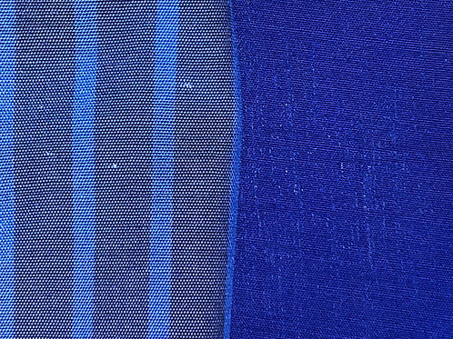 Blue Pinstripe reverses to Royal Blue