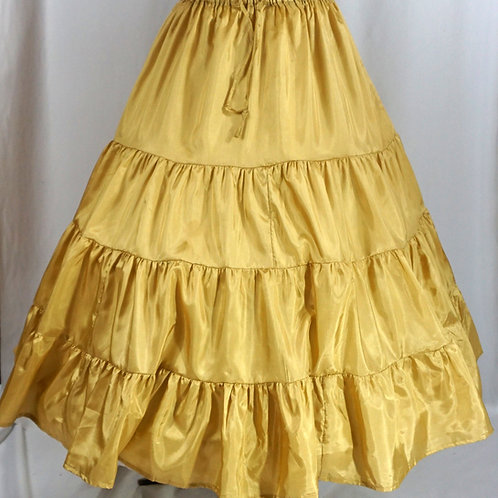 Silk Tiered Skirts Warm and Natural Colors