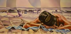 2ème prix professionnel décerné à Diane Chouinard pour sa toile : «Aux premiers rayons»