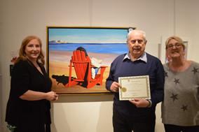 prix choix du public décerné à Giampaolo Sassano pour sa toile : «Sapore Di Mare»