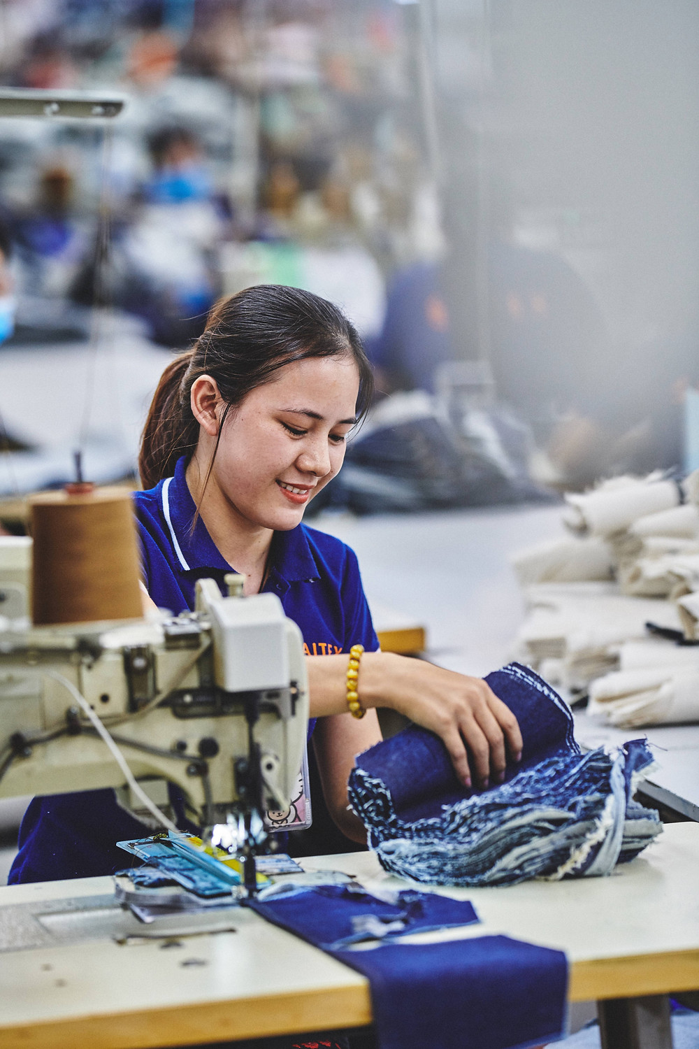 Saitex denim factory worker