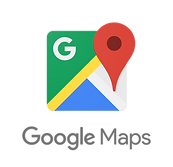 Maps logo color - vertical with icon (pn