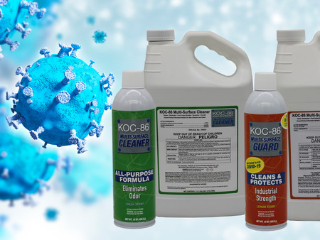 WIPE COVID AWAY AND KEEP IT AWAY WITH KOC-86  CLEANER AND GUARD